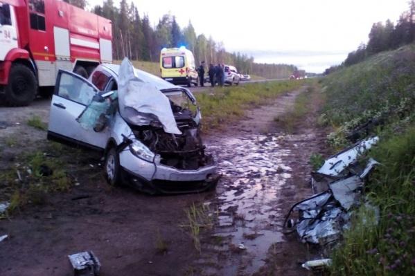 Столкновение произошло на 1200-м километре автодороги М-8 «Холмогоры»