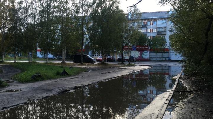Родная лужа: архангелогородец показал «Суэцкий канал» на улице Шабалина в Архангельске