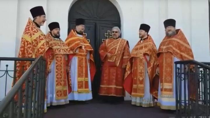 В Перми хор священников исполнил песню «День Победы». Видео