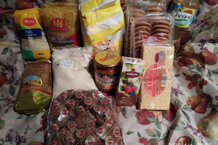 Сейчас продуктовый набор в Омске выглядит так