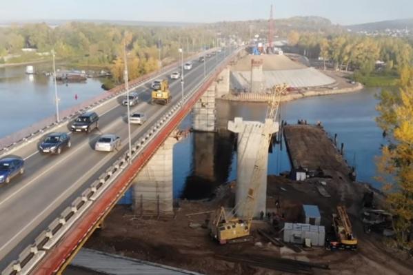 Длина нового моста составит 306 метров. Он будет двухполосным, ширина каждой полосы 3,5 метра