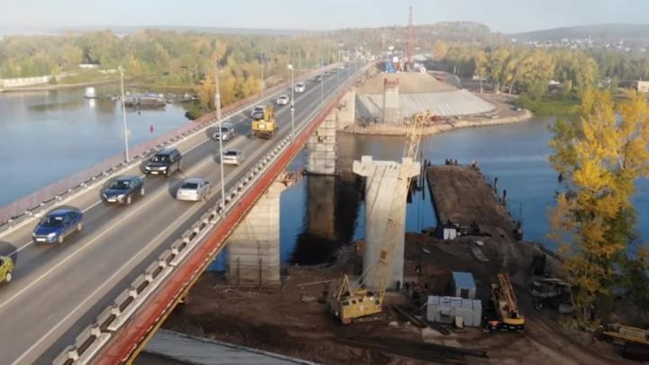 Осталось доделать еще одну опору: самарский блогер снял строительство моста через Сок с высоты