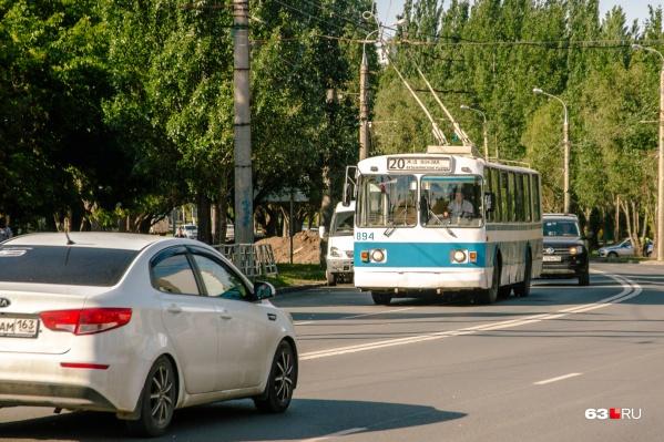 В Самаре много старых троллейбусов