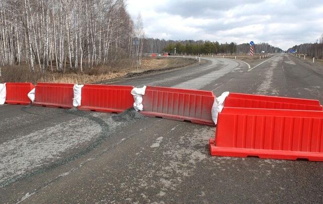В Зауралье часть трасс будет полностью закрыта до конца июня