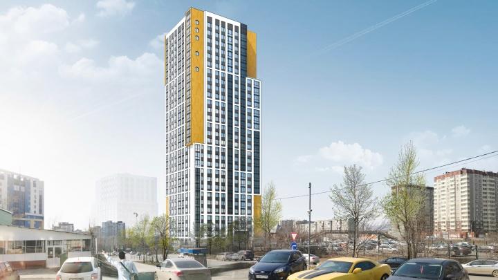 На месте частного сектора на Репина вырастет 29-этажная «свечка» с круглыми окнами