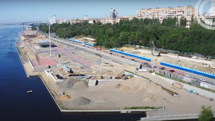 «Без пляжа будет провал»: волгоградец снял с высоты реконструкцию Центральной набережной