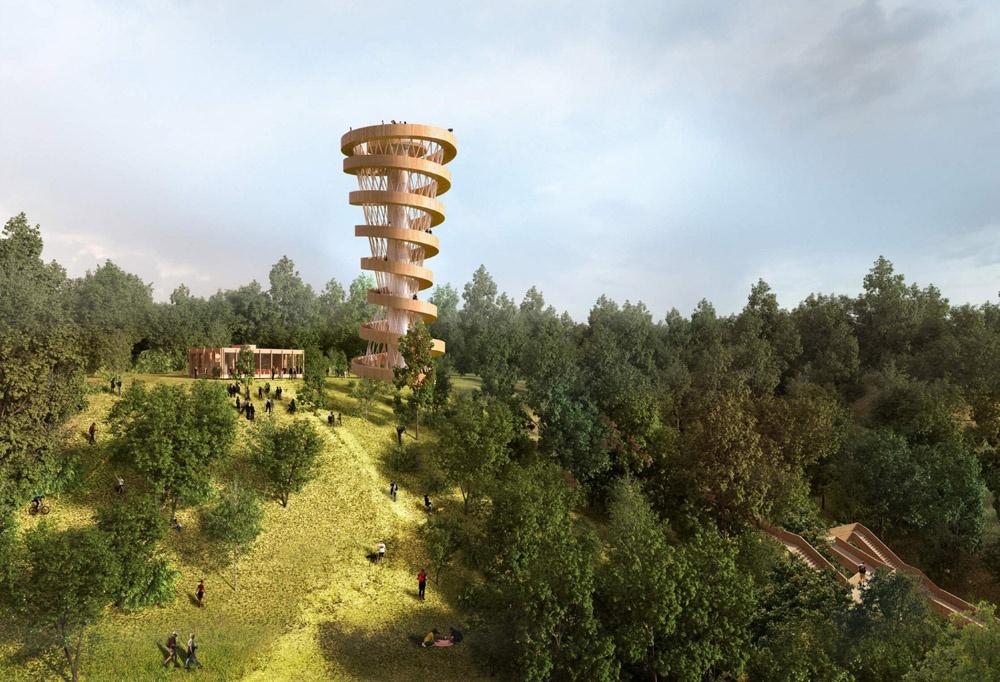 Прямо на краю склона предлагали установить смотровую башню