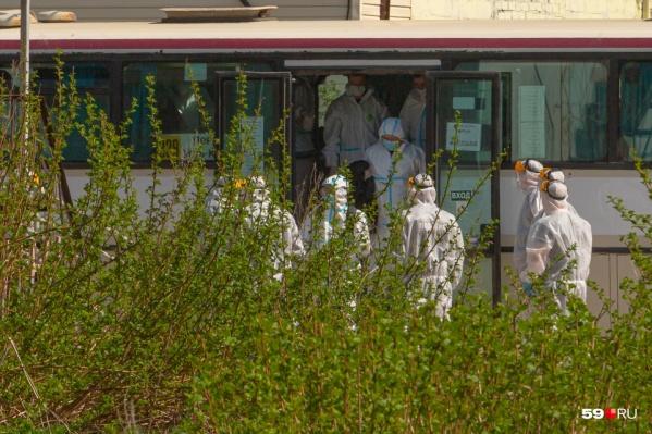 Из аэропорта вахтовиков отвезли в обсервацию на автобусах
