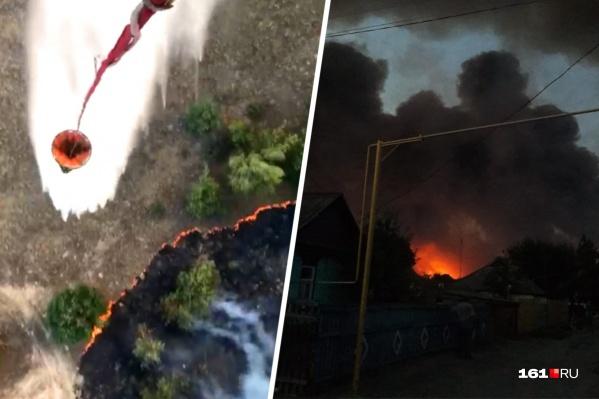 В регионе действуют два пожара