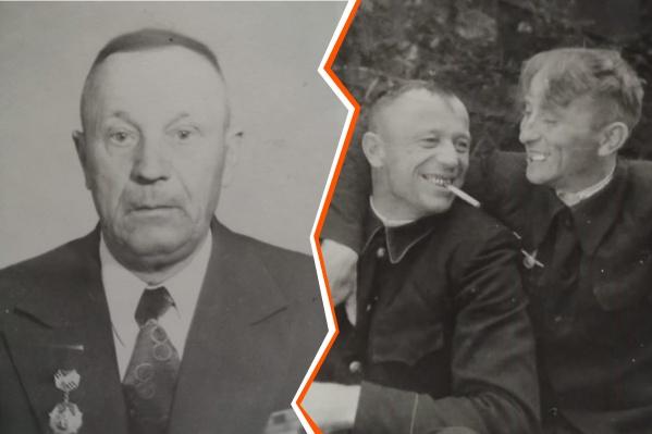 Командир саперного взвода Степан Никулин (слева) и его сослуживцы