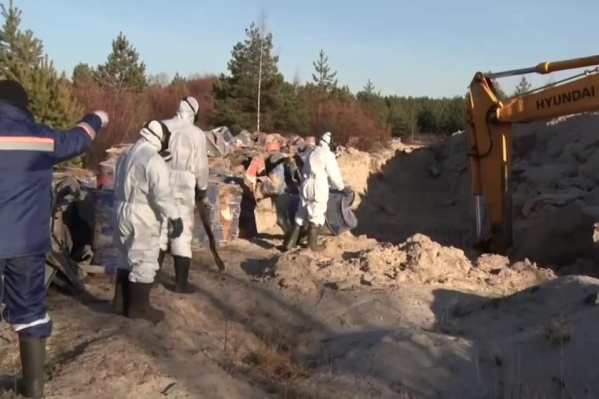 Сейчас людей, организовавших нелегальный сброс химикатов, разыскивает полиция