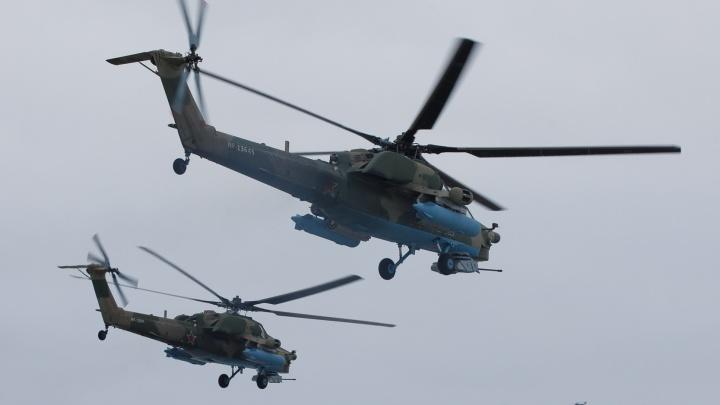 Военная авиация готовится к параду Победы в Волгограде