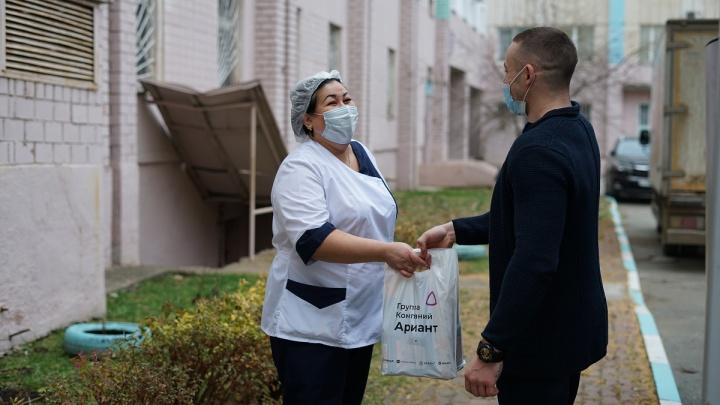 Бизнес поддержит: крупный российский холдинг отправил в челябинские больницы 2 500 продуктовых наборов
