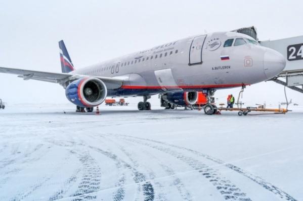 Самолет приземлился в Перми в 18:20