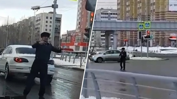 «Это же Витя Вертолет!»: тюменец стал местной интернет-звездой, станцевав посреди дороги