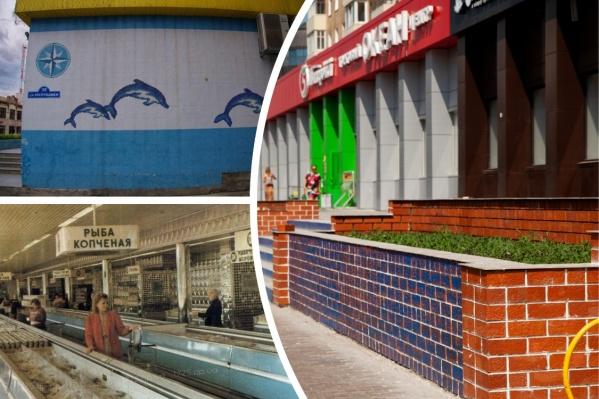 Сейчас торговый дом «Океан» пестрит яркими цветами — красный, черный, синий. Хотя в советское время знаменитый рыбный магазин мог похвастаться уникальным дизайном, которому позавидовали бы современные торговые сети<br>