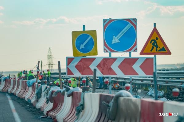 Причиной пробок стали дорожные работы и ограничение скорости до 50 км/ч