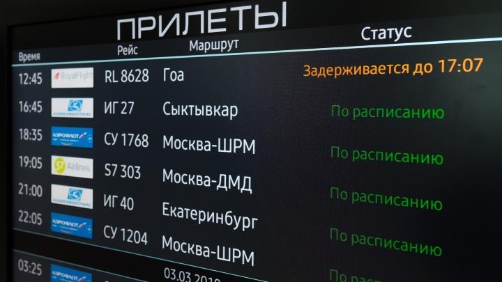 В пермском аэропорту задерживаются два рейса в Москву