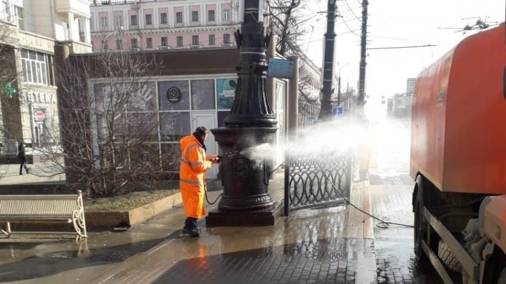 Наталья Котова предложила мыть улицы Челябинска дезинфицирующим раствором