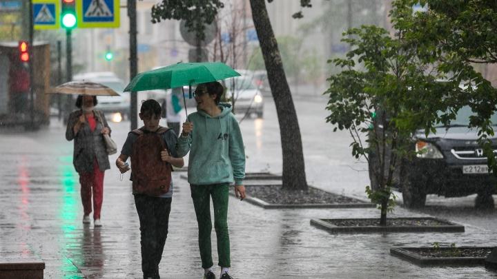 Дожди отступят из Красноярска только в воскресенье