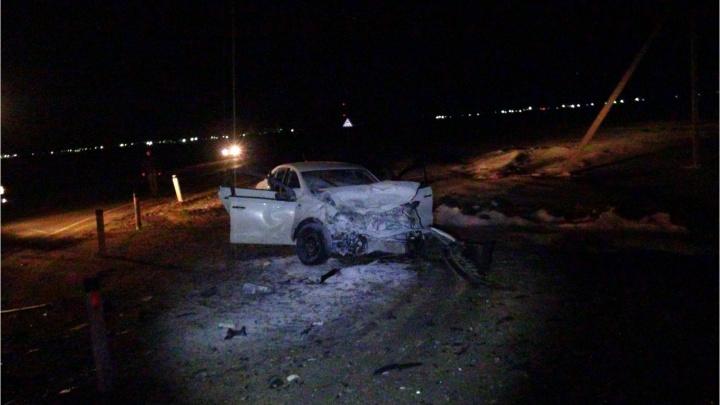 В Зауралье при столкновении двух легковушек один человек погиб, еще четверо — пострадали