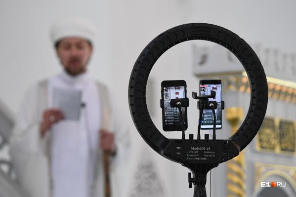 Трансляция праздничной молитвы велась в социальных сетях