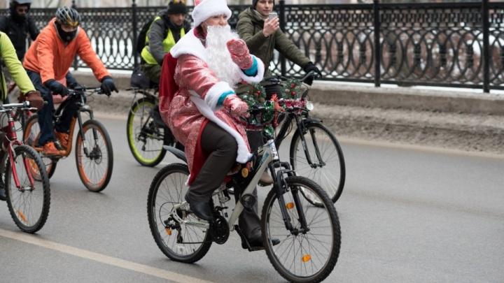 «Фонари — обязательны, новогодние костюмы рекомендуются»: волгоградские велосипедисты собираются на праздничные покатушки