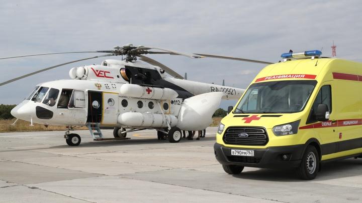 В Самарской области на вертолете эвакуировали трех женщин после родов
