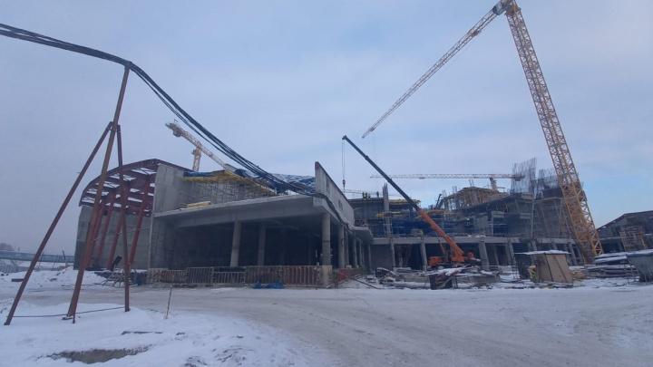 В Новосибирске начали новый этап строительства ЛДС — показываем в 5кадрах, как сейчас выглядит дворец спорта