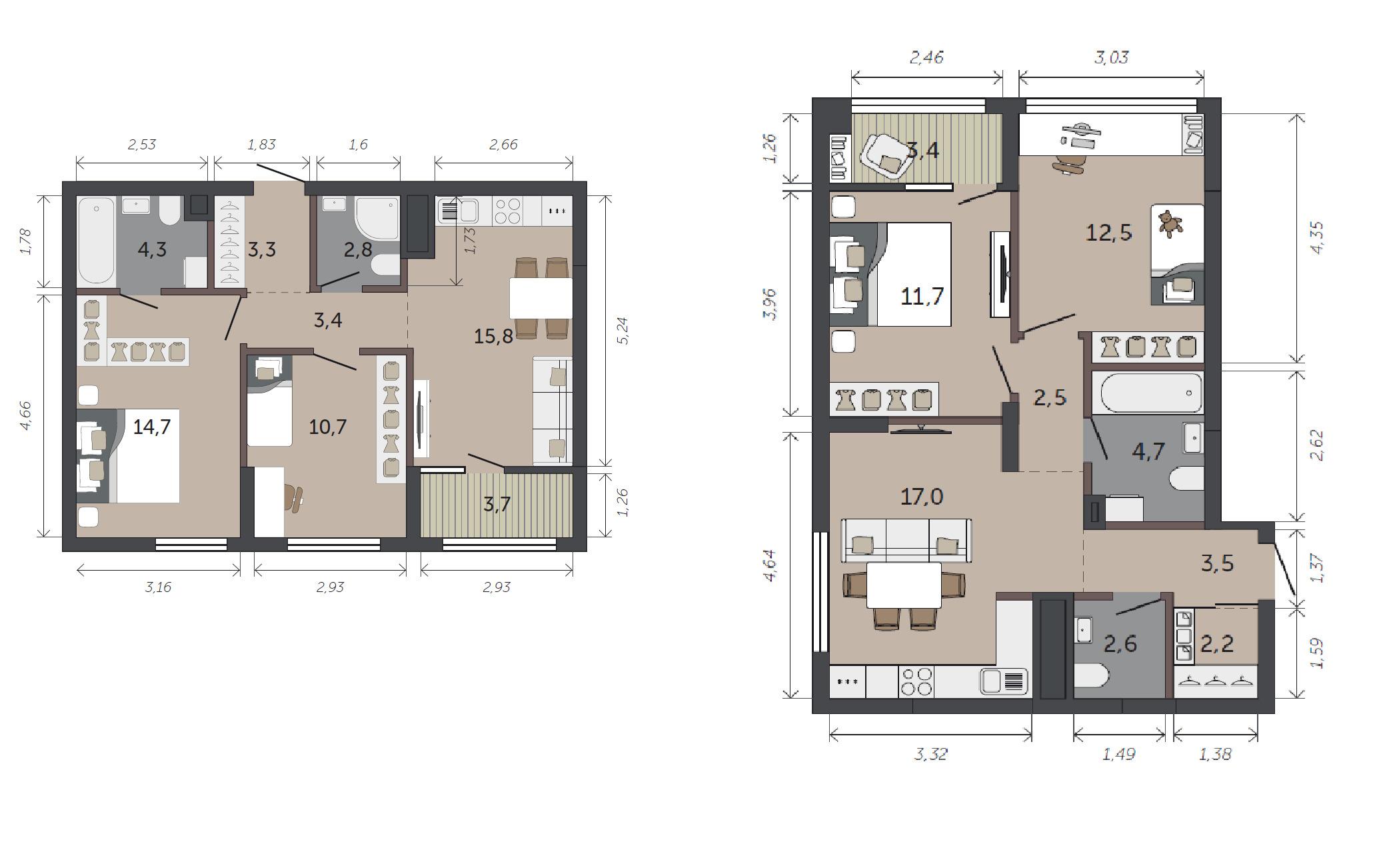 Двухкомнатные квартиры остаются самым популярным форматом жилья