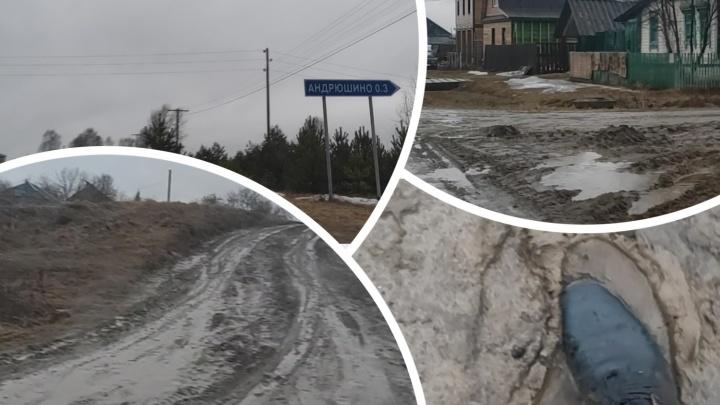 «Иногда затаскиваем автомобили домой трактором»: жители тюменской деревни жалуются на бездорожье