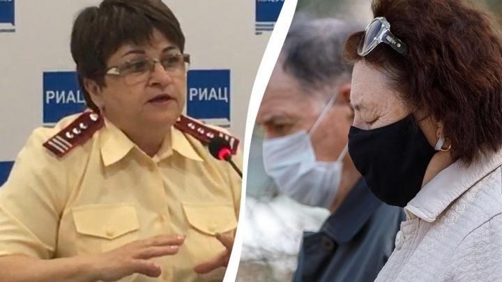 «Масочный режим пришел надолго»: главный санитарный врач без маски анонсировала продление изоляции в Волгограде