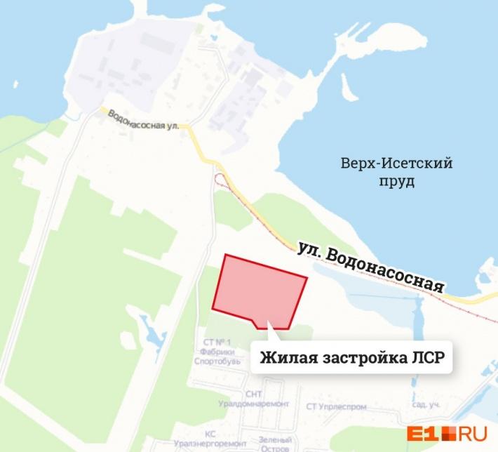 На ВИЗе-Правобережном ЛСР застроит участок площадью 14 гектаров