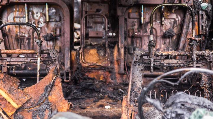 В Камышине сгорели две пассажирских «Газели»