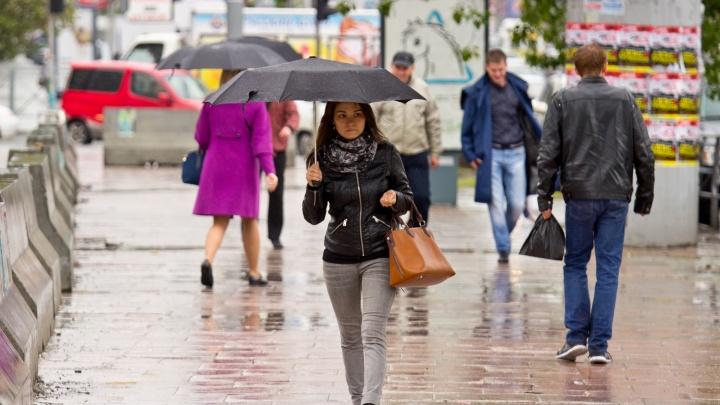 На Новосибирск идут грозовые дожди