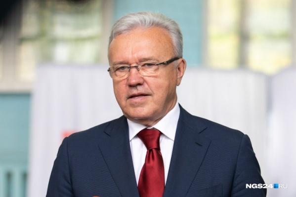 Александр Усс руководит краем с21 сентября 2018 года