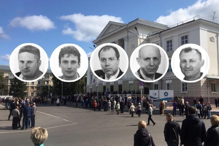 Слева направо: Сергей Пичугин, Алексей Вьюшин, Евгений Коратаев, Владислав Яновский и Вячеслав Липшев