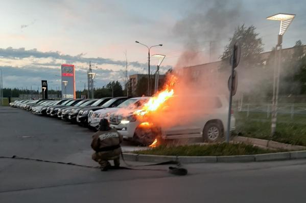 Пожар потушили меньше чем за 10 минут