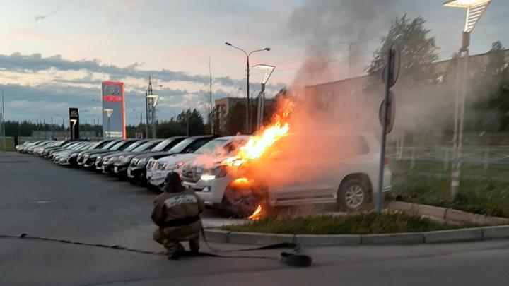 «Плеснул горючим и ушел»: ночью на стоянке у «Toyota Центра» в Архангельске сгорел автомобиль