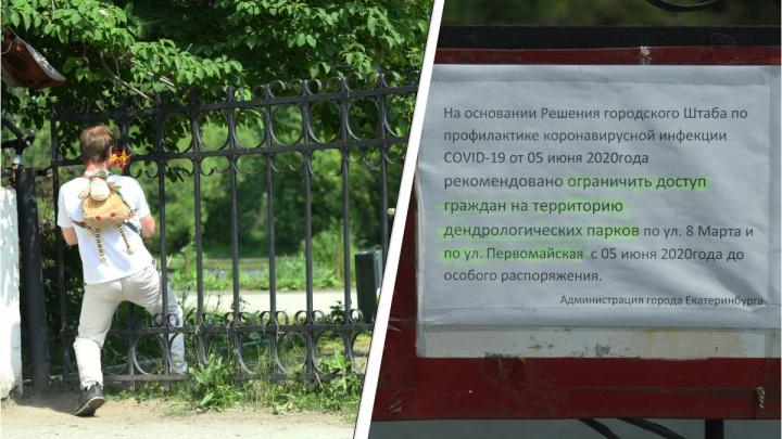 В мэрии объяснили, почему дендропарки закрыли после того, как Куйвашев разрешил прогулки