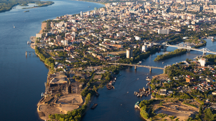 Застройка стрелки рек Волги и Самары: смотрим, как хотят освоить культовое место