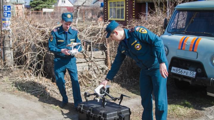 Омские спасатели начали следить за дачниками с помощью квадрокоптеров