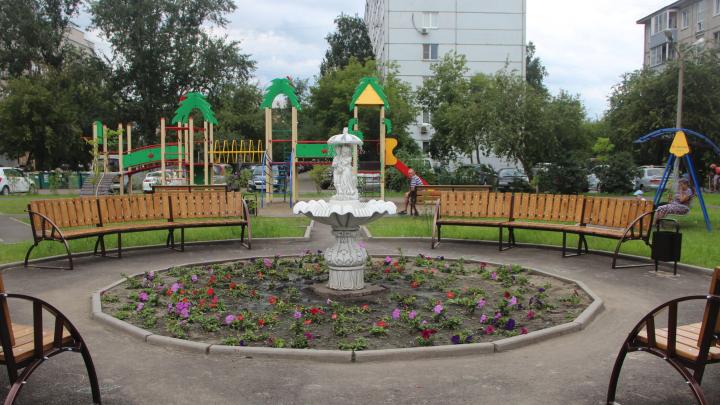 Жители Железнодорожного района установили фонтан во дворе своего дома