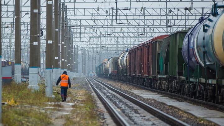 В Ярославле мужчину задавил товарный поезд