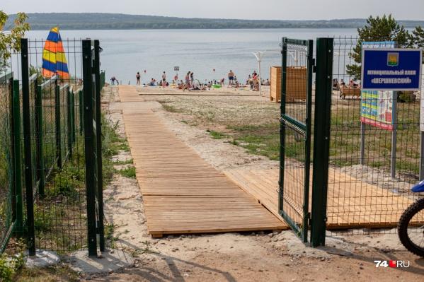 Новый пляж на Шершнях назвали незамысловато — «Шершнёвский»