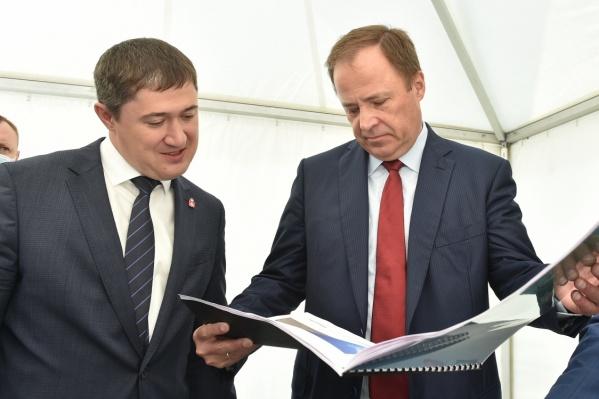 Игорь Комаров с главой Прикамья Дмитрием Махониным