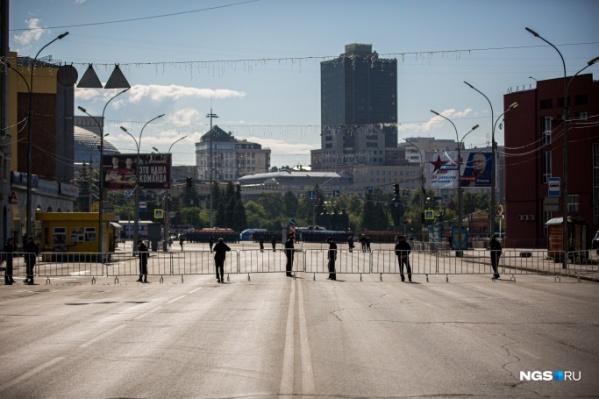 Центр Новосибирска на время парада перекроют даже для пешеходов