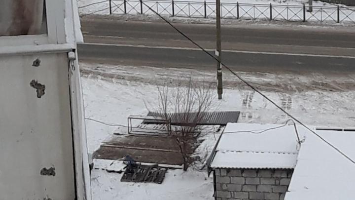 Ночью в Омске пропал овощной киоск вместе с товаром