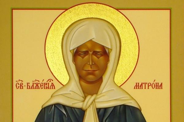 Икона святой Матроны Московской, фрагмент изображения