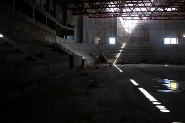 Площадка для арены и трибуны уже готовы